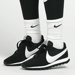 Nike Pre Love OX Black White Swoosh Retro NEW